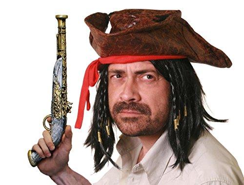 Disney Der Piraten Kostüm Karibik - ILOVEFANCYDRESS Piraten Hut Set PERFEKT FÜR Jede SEERÄUBER VERKLEIDUNG ODER Fasching UND Karneval -EINFACH EIN KNALLER FÜR Jede Party -DER BERÜHMTE Pirat AUS Film UND FERNSEHN