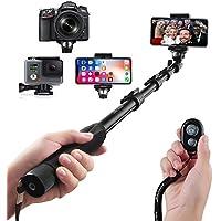 Selfie Stick Arespark Bastone Selfie con Bluetooth Wireless Remote Shutter,Durevole,per iPhone, Smartphone Android, GoPros, DSLR e Fotocamere Digitali, Allungabile Fino a 127 cm