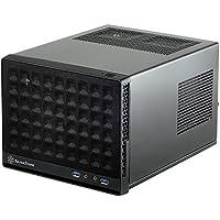 SilverStone SST-SG13B - Carcasa de ordenador compacta cubo Sugo Mini-ITX, Panel frontal de rejilla, negro