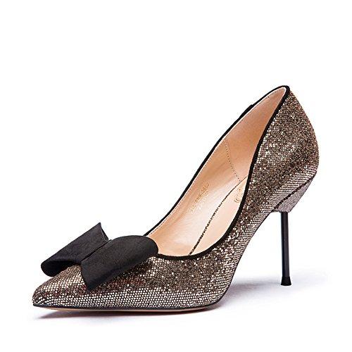 ARC Lady sweet sequins asakuchi chaussures/Chaussures à talon pointu talons B