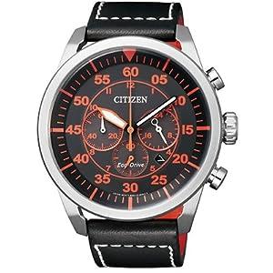 Reloj Eco Drive Citizen. Acero. Coleccion Aviator. Correa de CITIZEN