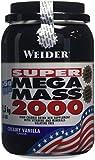 Weider Weight Gainer Mega Mass 2000 Complément alimentaire Vanille 1500 g
