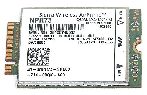 Sierra Wireless DELL Wireless Dw5808e Em7355 LTE 4 G WWAN module de carte 2  Ndhx Npr73 Pn01 C 4 Gp3d