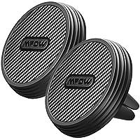 Mpow Soporte Móvil Magnético para Coche, 2 Packs Soporte con Imán para Móvil Coche, Soporte para Movil Coche Rejilla, de Fibra de Carbono para iPhone X/8/7/7Plus, Samsung Galaxy S8/7/6, Xiaomi, Huawei P9/P9Plus y ect.