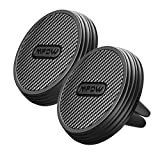 Mpow Soporte Móvil Magnético para Coche, 2 Packs Soporte con Imán para Móvil Coche, Soporte para Movil Coche Rejilla, de Fibra de Carbono para iPhone X/8/7/7Plus, Samsung Galaxy S8/7/6, Xiaomi, Huawei P9/P9Plus y ect.