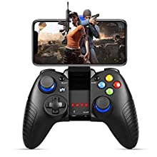 Game Controller Wireless, PowerLead Handy Controller Perfect for PUBG and Most Games, Wireless Controller for Android/IOS, Fast Response Speed and Comfortable Grip, Does Not Support IOS13.4 and Later