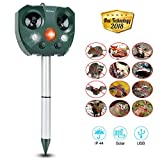 Yoleo 2018 New Fox Repellent Cat Repellent Solar Power Ultrasonic Animal Repeller, Battery