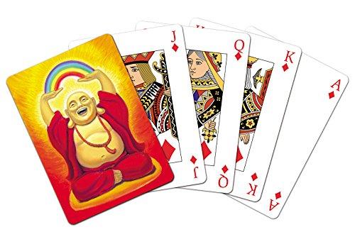 Preisvergleich Produktbild Tree Free Grußkarte, Motiv: lachender Buddha 49492 Spielkarten-Deck