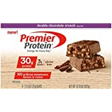 Premier Protein Bar, Double Chocolate Crunch, 30g Protein, 2.53 Ounce Bars (Pack of 6)