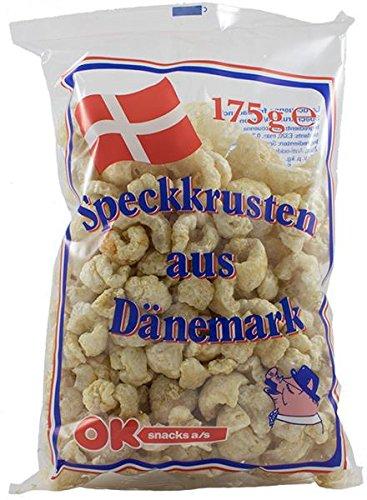 Preisvergleich Produktbild OK - Speckkrusten aus Dänemark - Chicharon / Tsitsaron / Chicharrón,  1er Pack ( 1 x 150 g)