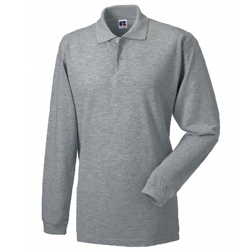Russell Herren Polo-Shirt Europe Langarm Graphit