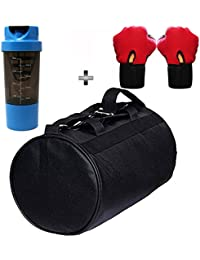 SOOPLE SPORTZ Gym Bag Combo Set Enclosed With Soft Leather Gym Bag For Men And Women For Fitness - Bag Size 49cm... - B07CSPQ5RT