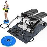 HJKHJK Side Stepper Fitnessgeräte für gelenkschonendes Training Auf-und-Ab-Stepper in einem Gerät...