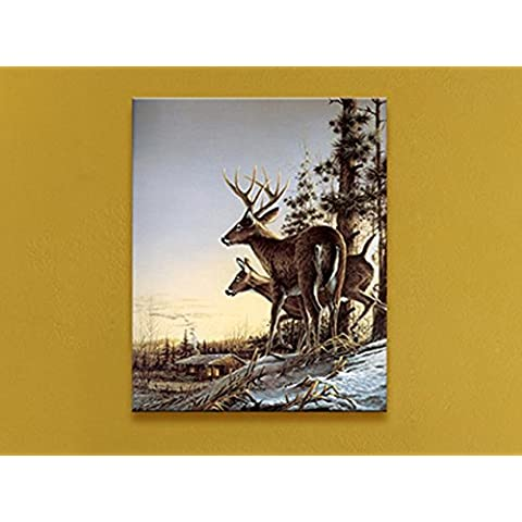 XYXY Paisaje animal pintura decorativa LED moderno pintura colgando pinturas para el hogar . b . 40*60