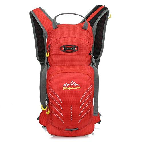 borsa a tracolla a cavallo Outdoor / sacchetto della bicicletta / borsa sportiva alpinismo / bag ultraleggero-viola 15L rosso