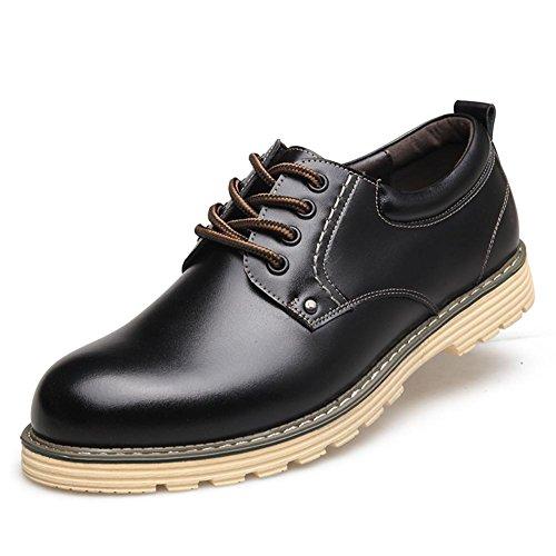 Hiver automne mode cuir véritable Business cuir hommes dentelle classique Casual Shoes