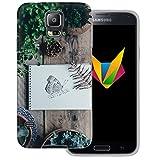 dessana Frühling transparente Silikon TPU Schutzhülle 0,7mm dünne Handy Soft Case für Samsung Galaxy S5/Neo Schmetterling Garten