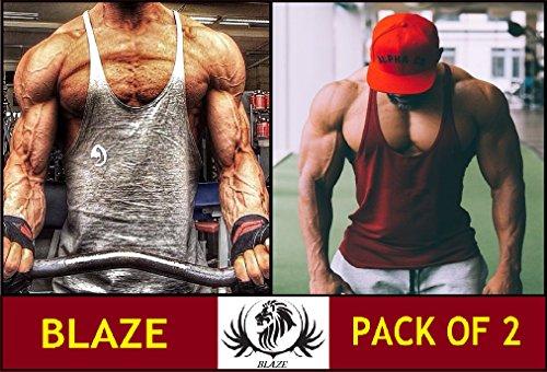 89372199ea50ae The Blazze Men s Stringer Y Back Bodybuilding Gym Tank Tops