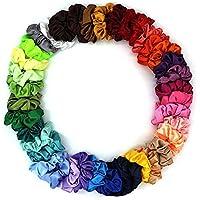 folkdesi 10 Pieces Premium Satin Scrunchies, Silky Curly Hair Accessories for Women, Hair Ties for Teens, Scrunchies…