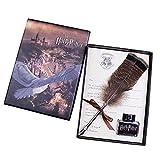 Antique d'écriture Quill Plumes de stylos-Dip Stylo en Forme de Plume Stylo de Calligraphie Ensemble d'écriture d'encre Quill Porte-Plume pour Les Fans de Harry Potter Owl Feather Pen