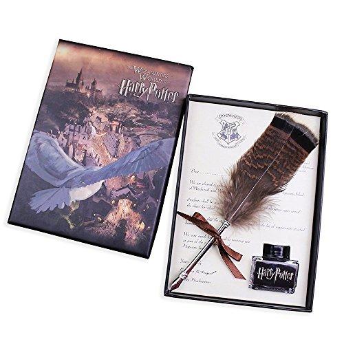 Antik Schreiben einsehbar Feder Stift-Set-Dip Feder Stift Schönschreibfüller Set Schreiben einsehbar Tinte Dip Pen für Harry Potter-Fans Owl Feather Pen (Harry Stamm Potter)