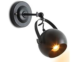 Comely Applique Murale Interieur Industrielle, Lampe Murale Rétro, Applique Réglables, Luminaires Muraux en fer E27 pour Cham