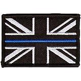 Thin Blue Line Police Union Jack Velcro backed patch