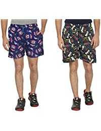 Bfly Combo Of Printed Men's Cotton Shorts - B01IN1KM3M