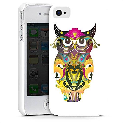 Apple iPhone X Silikon Hülle Case Schutzhülle Decorative Owl Eule Muster Premium Case glänzend