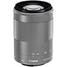 Canon EF-M 55-200mm f/4.5-6.3 IS STM - Objetivo (17/11, 55 - 200 mm, Canon EF-M, 88 - 320 mm, Canon, Plata)