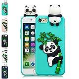 LA-Otter Coque iPhone 6S Plus 6 Plus Bleu Clair Panda Ultra Fine Slim Mince Silicone...