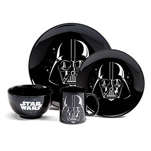 Star Wars Geschirrset, 4-tlg, Edelstahl, weiß, 9 x 4 x 4 cm