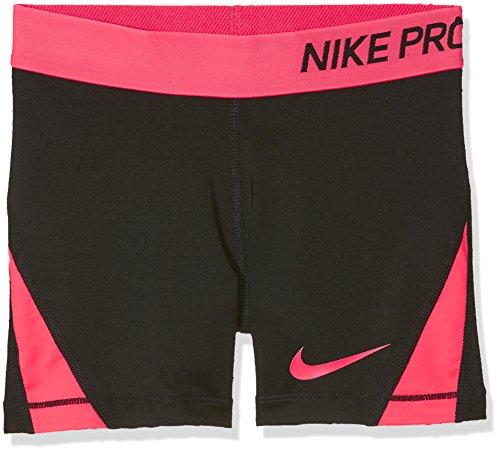 Nike Girls' Pro Shorts Pantalones cortos, Niñas, Negro/Rosa, XL