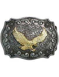 Golden Eagle Landisun fait main Motif boucle de ceinture