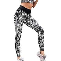 Mallas Yoga Mujer,Lunule Mujeres Leggins de Cintura Alta de Pata de Leopardo de impresión Legging Deporte Pantalones Deportivas Mujer