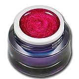 Premium Glittergel Colorgel Farbgel UV-Gel 5ml Explosion Pink - Rot (Feines Glitter)
