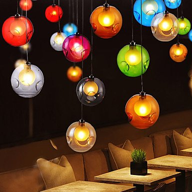 Retro-Glas Goldfish bowl kreative G4220V12CM kreative nordischen Farben separate LED-Leuchten , transparence (Goldfish Bowl-licht)