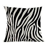 Matefield Zebra Stripe Imprimé Taie d'oreiller d'oreiller Taille Housse de Coussin Home Decor b