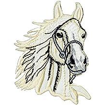Parche aplicable mediante planchado, diseño de cabeza de caballo