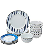 AmazonBasics 18-Piece Dinnerware Set - Bungalow