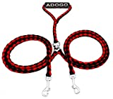 Adogo Dual Dog Parade No-Tangle Double Dog Lead Leash Coupler for 2 Dogs