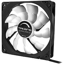 Tacens 3AURAPROII - Ventilador para ordenador (12 cm, 550 RPM, Tecnología Fluxus Pro, adaptadores de velocidad, PWM, ultra silencioso, anti-vibraciones) color negro