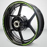 Verde Mate Evo Outer Rim Liner Stripe Pegatinas para Kawasaki ER6N