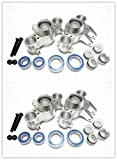 HD Aluminum Axle Carriers Left&Right Front&Rear With Bearing -4PCS SET Silver For 1/10 RC Car Revo 3.3 E-Revo SUMMIT E/MAXX 5334