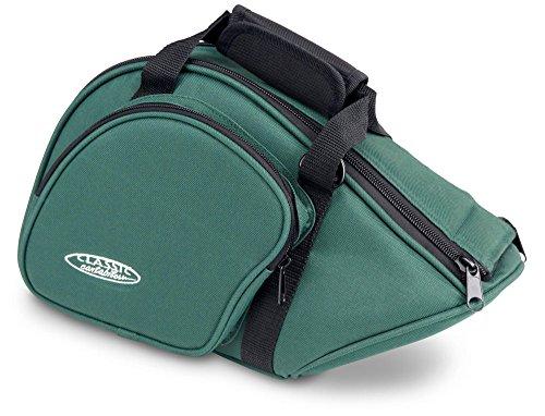 Classic Cantabile JHB-1 Tasche für Jagdhorn/Fürst-Pless-Horn (Softbag/Case mit Außentasche) grün