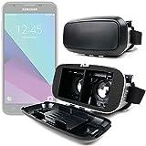 DURAGADGET Gafas de Realidad Virtual VR ajustables en color negro para Smarphones Smartphone Samsung Galaxy J3 , J5 (2017) / Huawei Y7 Prime / Archos Diamond Alpha , Gamma , Sense 55S , Sense 50X / ZTE nubia Z17 mini + gamuza limpiadora.