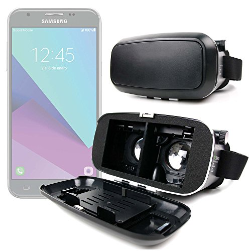 DURAGADGET Occhiali Realtà Virtuale VR 3D per Cellulare Samsung Galaxy J3 - J5 (2017) + Panno Pulizia - Alta qualità