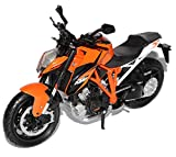 New Ray K-T-M 1290 Super Duke R Orange 1/12 Modell Motorrad mit individiuellem Wunschkennzeichen