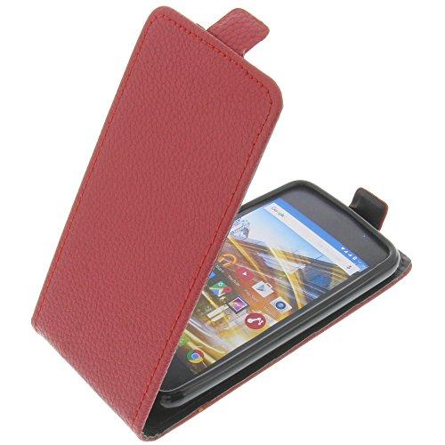 foto-kontor Tasche für Archos 40 Neon Smartphone Flipstyle Schutz Hülle rot