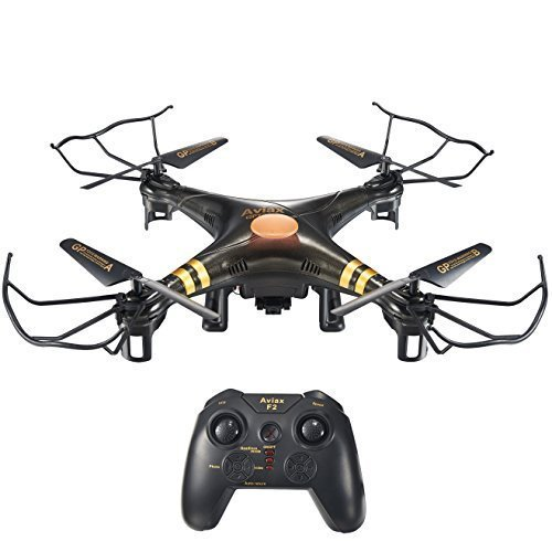 HOSIM F2C Black Aviax Remote Control Quadcopter Drone Helicopter with Transmitter & Gyro System & HD Camera & LED Lights & 4G SD Card & SD Card Reader